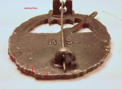 Kriegsabzeichen fur den Marine Artillerie - Real or Fake