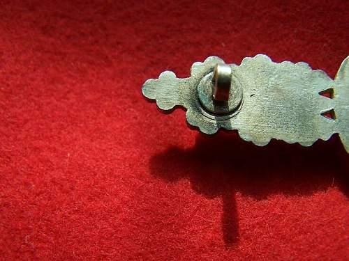 Luftwaffe Bomber silver spange