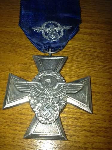 SS-Dienstauszeichnung 2.Stufe (12 Jahre) & Polizei Dienstauszeichnung 2. Stufe