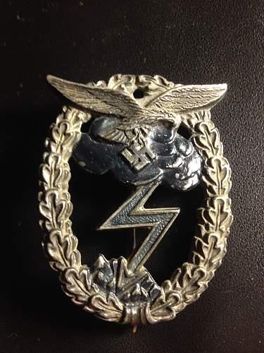 Luftwaffe Erdkampfabzeichen by Wallpach.
