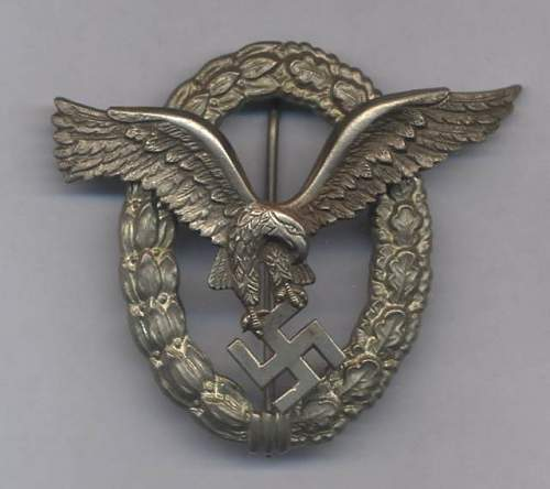 Fake or real pilot badge Assault badge