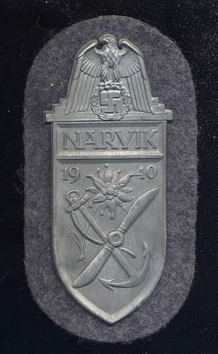 Narvik badge Dealer insists it genuine?