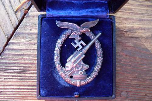 Flakkampfabzeichen der Luftwaffe with Case