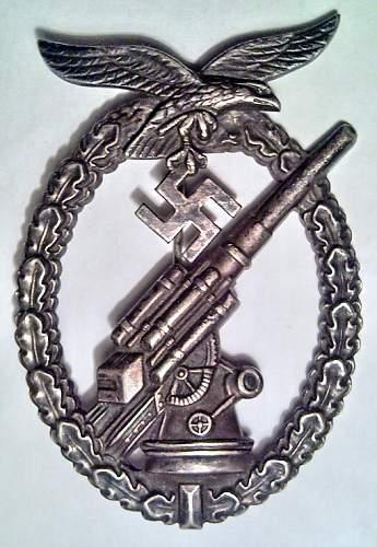 """Manufacturer """"Flakkampfabzeichen der Luftwaffe"""""""