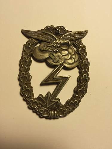 Luftwaffe Erdkampfabzeichen original?