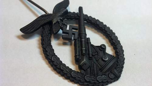 Assman marked Luftwaffe Flakkampfabzeichen for review