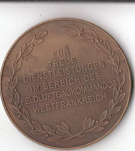 Fur Treue Dienstleistungen Luftwaffe award