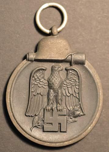 """Medaille """"Winterschlacht im Osten 1941/42"""" - """"L/58"""" Rudolf Souval"""