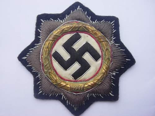 Deutsches Kreuz in Gold.