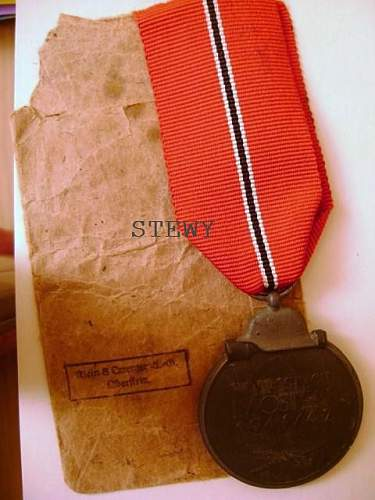 Wwii german russian front medal