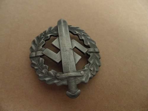 SA-Wehrabzeichen silber