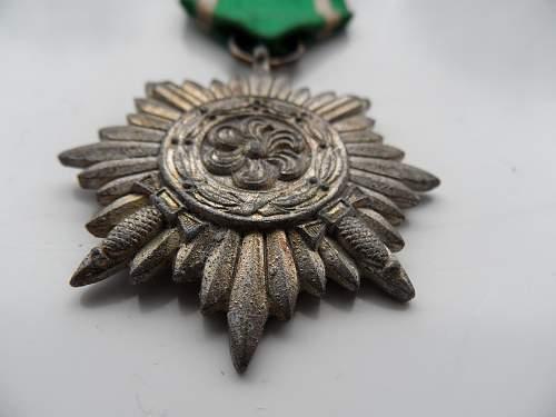 Ostvolkmedaille 2er Klass in Silber mit Schwerten