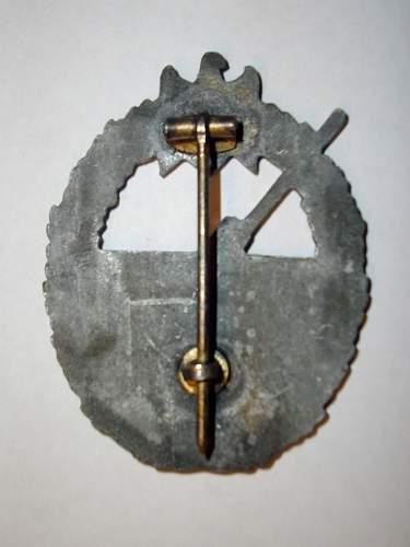 Marine Artillerie Abzeichen (Coastel Badge)