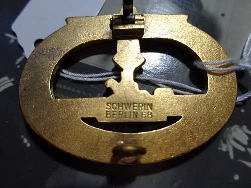 U-Boat Kriegsabzeichen Badge