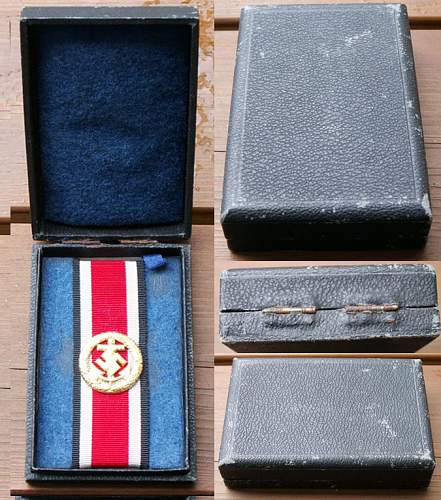 Authentic Kriegsmarine honor roll medal- Grandfather took during war