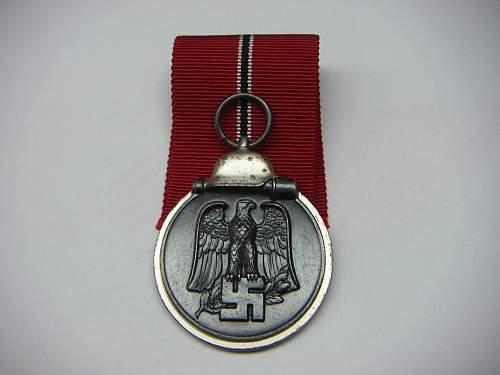 Unmarked Medaille Winterschlacht im Osten pickup
