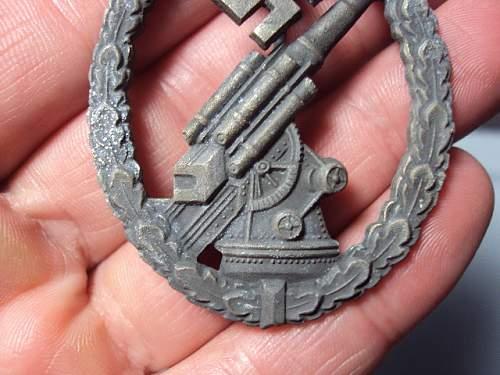 Flak badge luftwaffe flak-kampfabzeichen