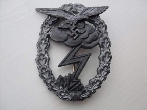 Luftwaffe ground assault -erdkampfabzeichen