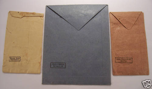 Set of Ostmedaille and EK 2 envelopes for ID