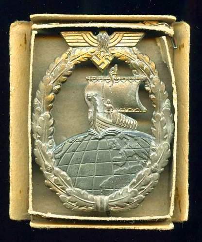 Kriegsabzeichen Fur Hilfskreuzer( FO)