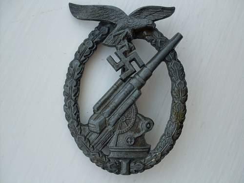 Flakkampfabzeichen der Luftwaffe (W)