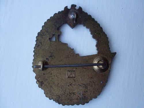 Zerstorer Kriegsabzeichen (JFS)