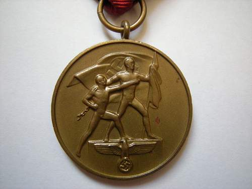 Click image for larger version.  Name:Sudetenland Medal (2).jpg Views:68 Size:217.4 KB ID:630543
