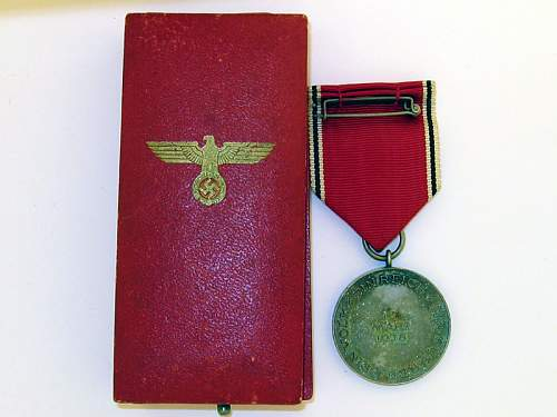 Unknown medal case