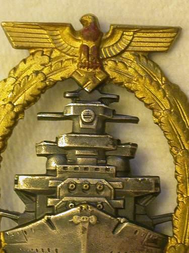 Flottenkriegsabzeichen, OM, Sudetenland