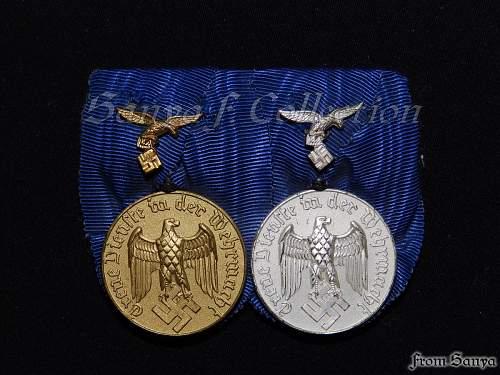 Dienstauszeichnung der Luftwaffe 4 & 12 Jahre.