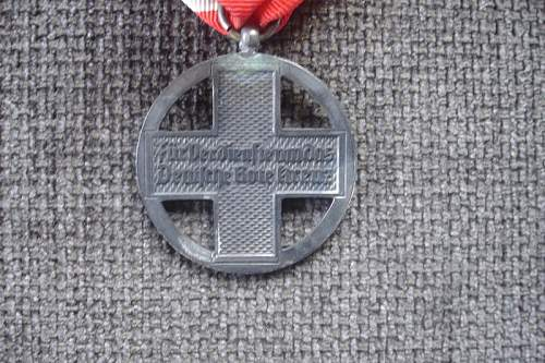 Help on NSDAP 7 Place Medal Bar and Red Cross medal