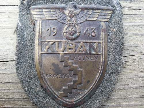 Heer KUBAN sleeve shield,Local....right out the woodwork Vet family purchase.