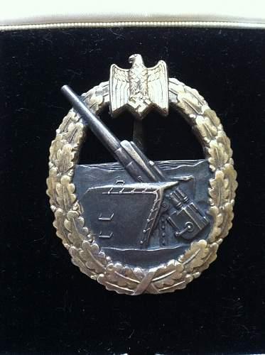 Kriegsabzeichen fur die Marine-Artillerie original or fake ?
