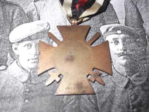 1914/18 Ehrenkreuz.