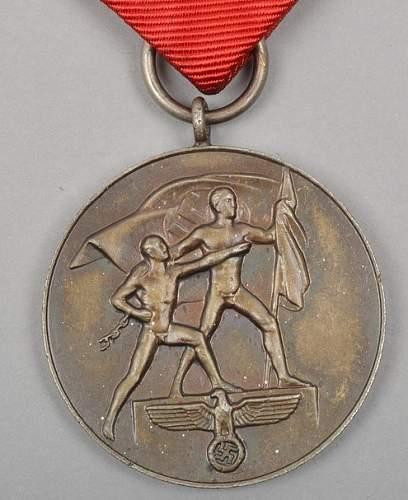 Click image for larger version.  Name:Medaille zur Erinnerung an den 13. März 1938 (2).jpg Views:42 Size:247.6 KB ID:670187