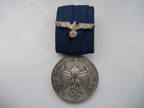 4 Year service Wehrmacht medal