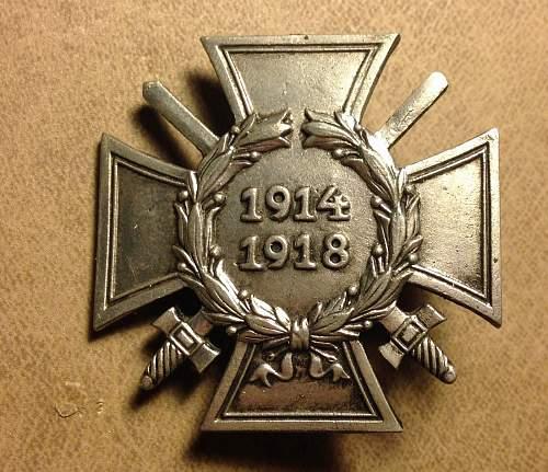 Fake 1914-1918 Ehrenkreuz (Hindenburg Cross)