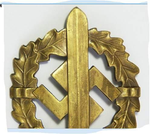 Bronzes SA-Sportabzeichen.