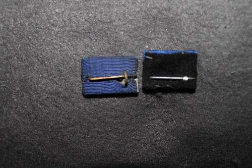 Treudienst Ehrenzeichen - 25 jahre and 40 jahre ribbon bars.