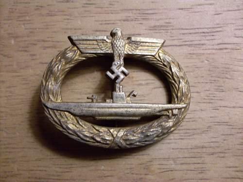 U-BOOTS -Kriegsabzeichen GWL