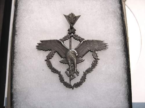 Click image for larger version.  Name:WWII GERMAN AVIATION AWARD X 001.jpg Views:110 Size:292.9 KB ID:682056