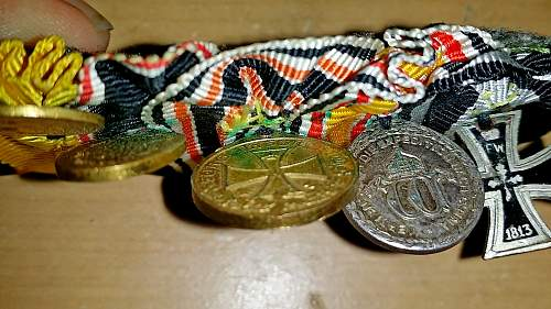 Authentic German 7 medals bar miniature?
