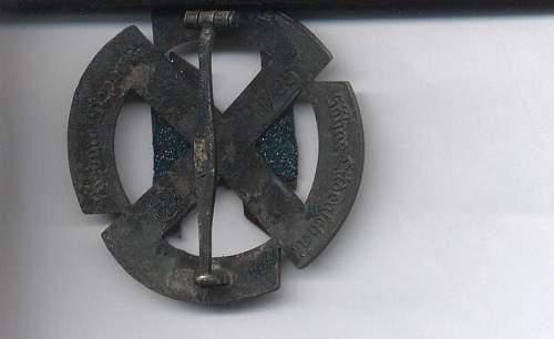 Allgemeine Sturmabzeichen & SS rune sports badge: original?