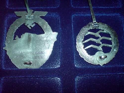 Schnelleboot & LW unknown award original?