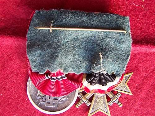 medal bar Ostmedaille + KVK / Ostmedaille set 88