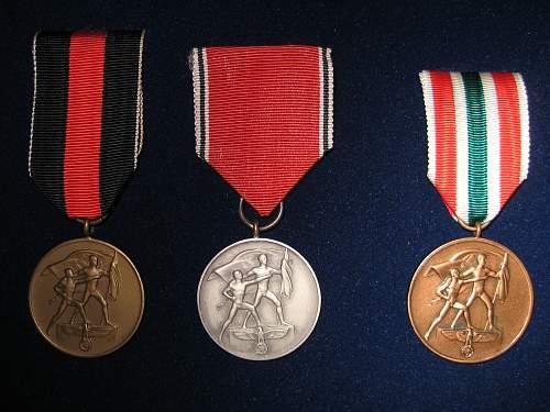 Oktober 1st 1938 cased Sudetenland medal