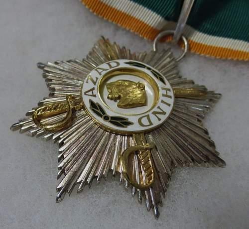The Sher-e-Hind/ Tiger of India. Azad Hind neck award..........