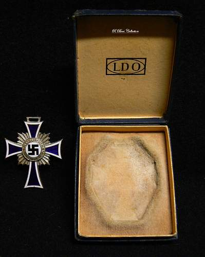 Ehrenkreuz der Deutsche Mutter Zweite Stufe, With LDO Case