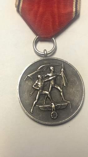 Bronz and Silver Medaille zur Erinnerung