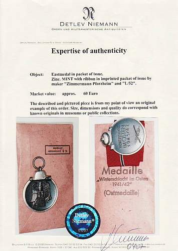 Ostmedaille - Real or Fake???